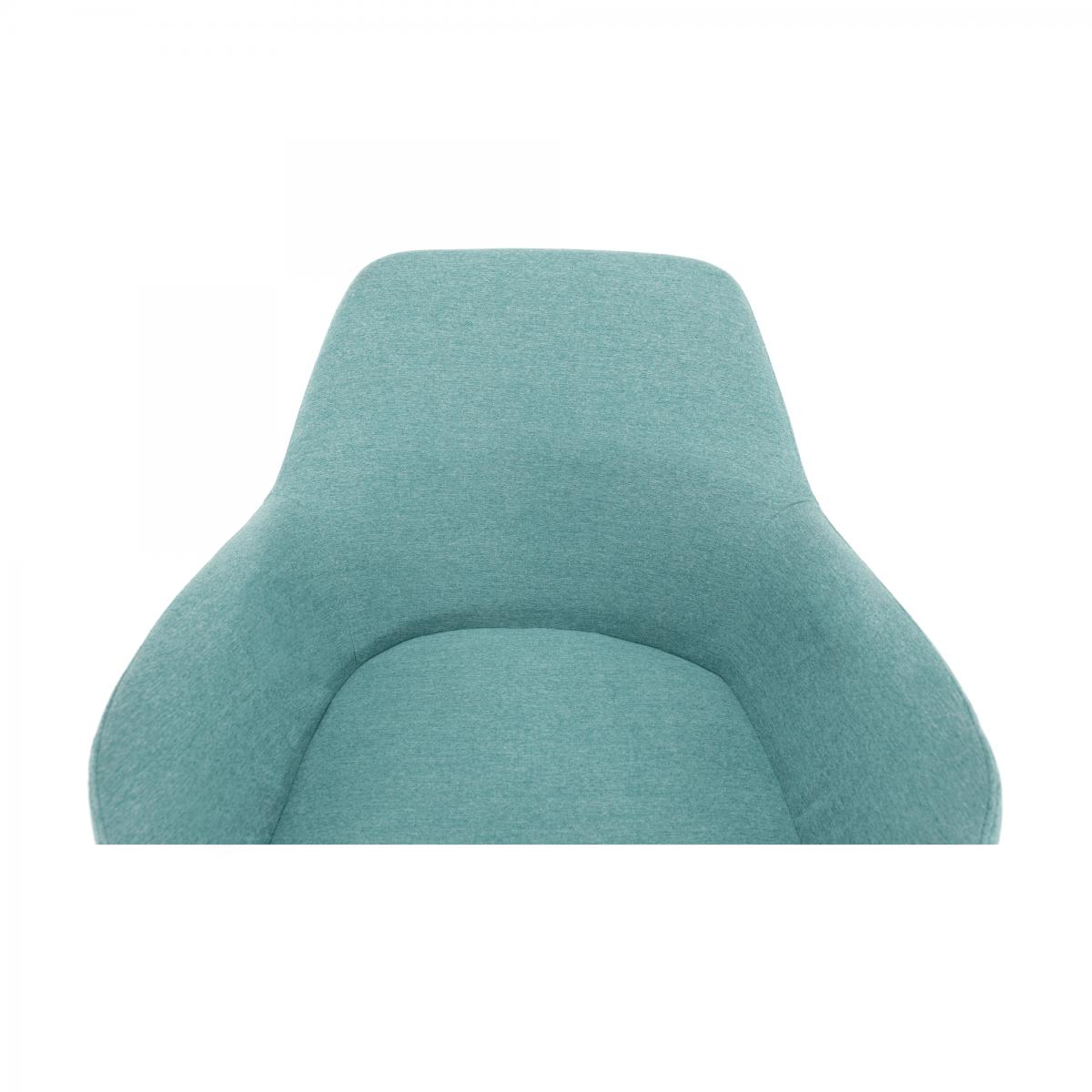 Design fotel, mentolos/fekete, LACEY