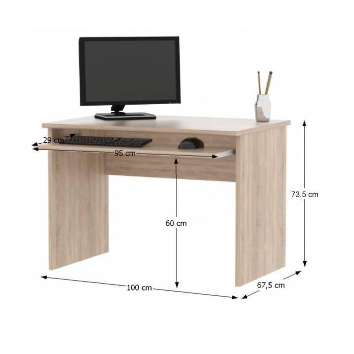 Íróasztal, sonoma tölgyfa, JOHAN NEW 02