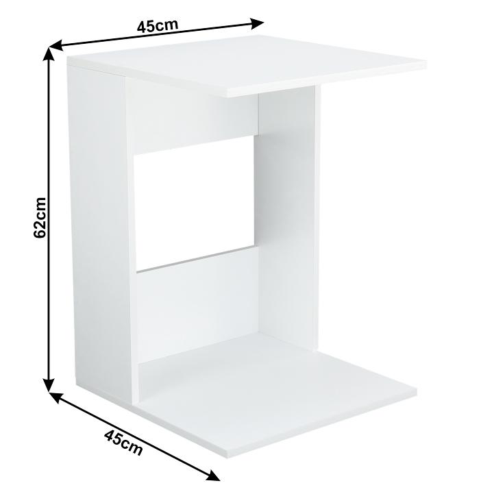 Kisasztal, fehér színváltozat, ZENOR