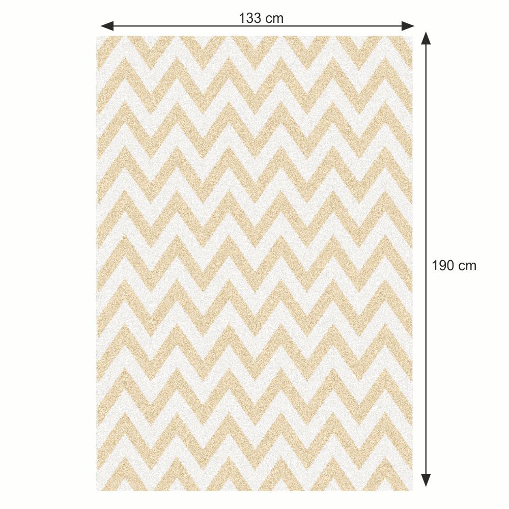Szőnyeg, bézs-fehér minta, 133x190, ADISA TYP 2