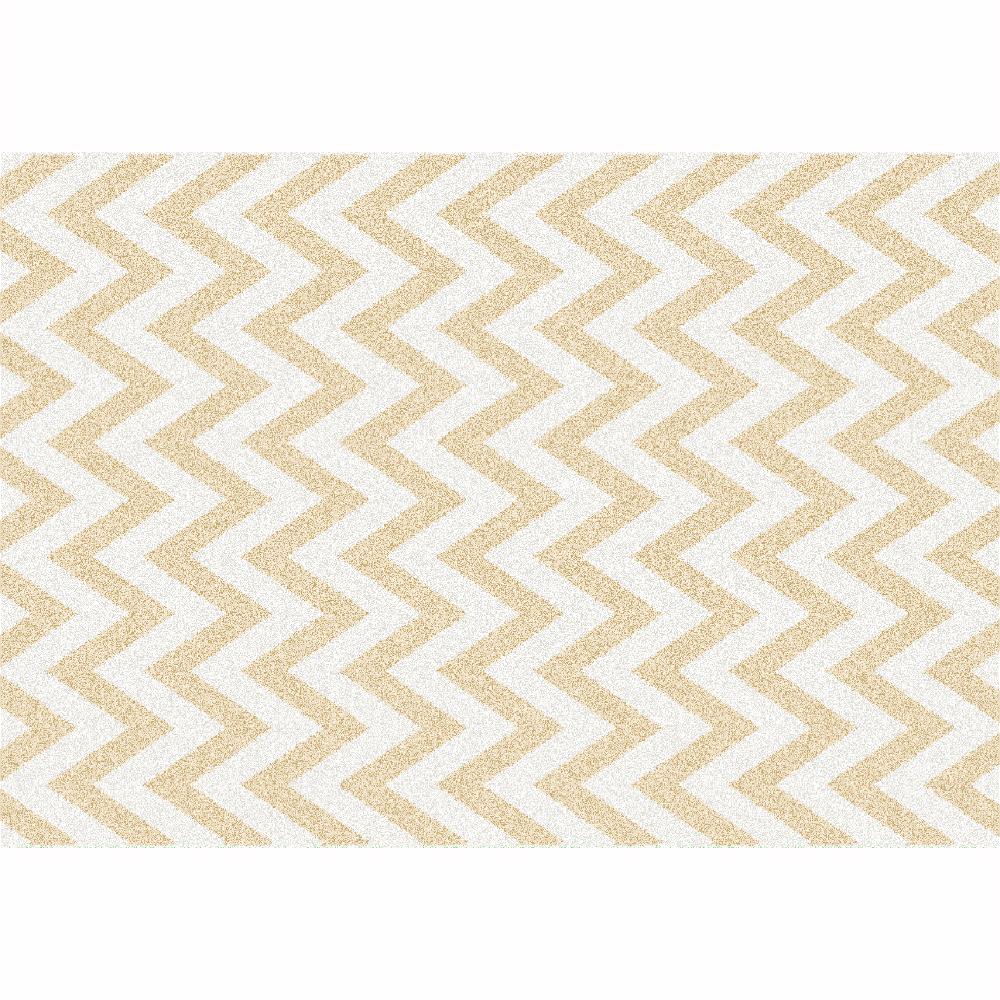 Szőnyeg, bézs-fehér minta, 57x90, ADISA TYP 2