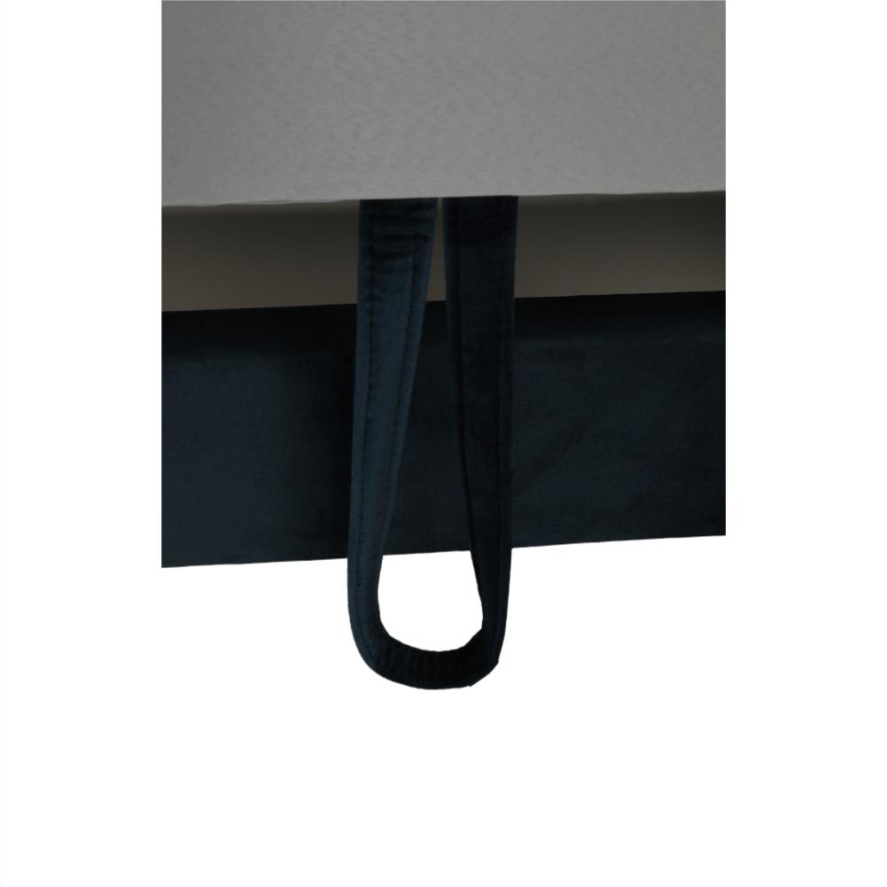 Sarokülőgarnitúra, kék, jobbos kivitel, AMARETA
