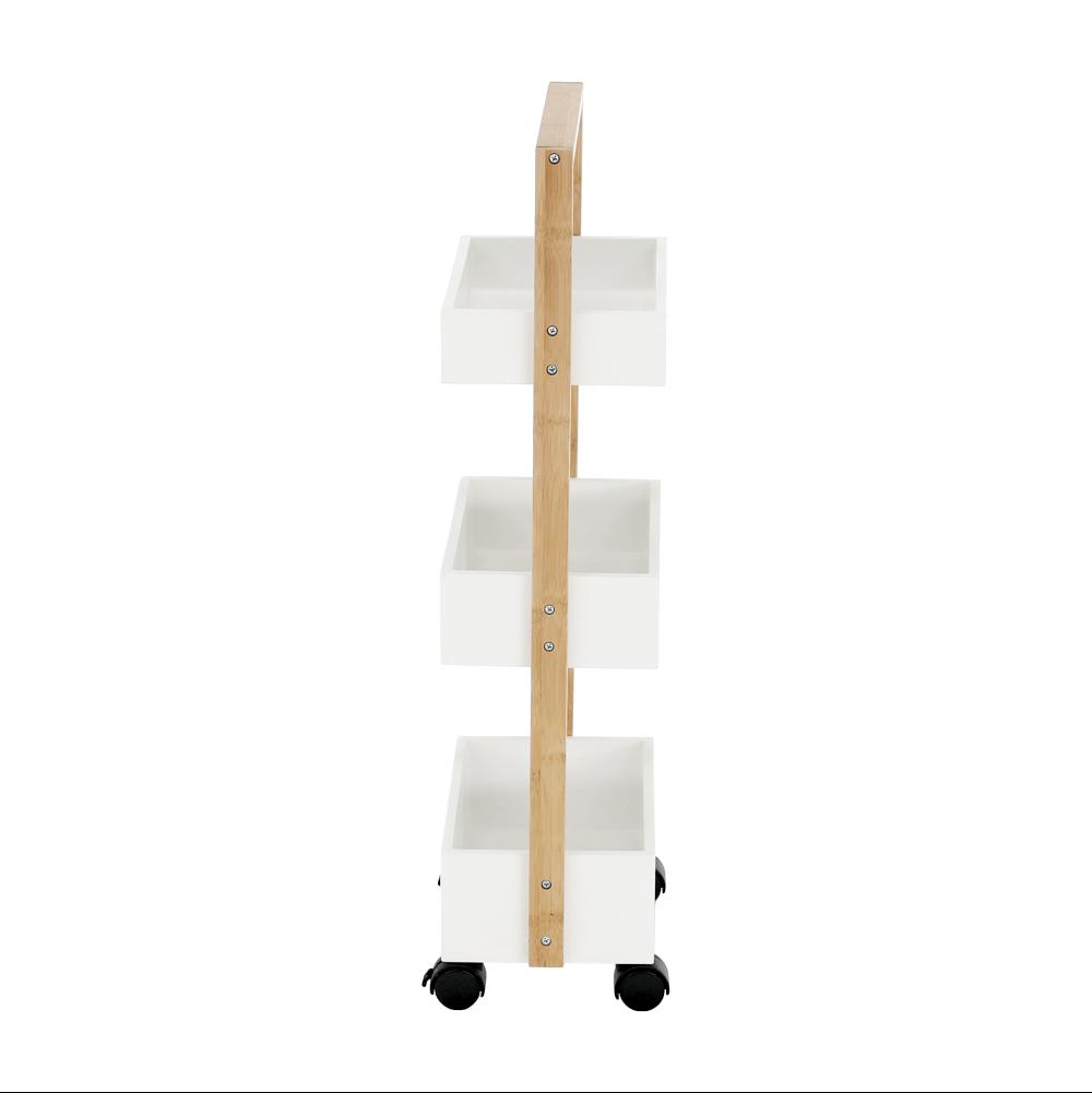 Polc, bambusz lakkozott/fehér, ARTO