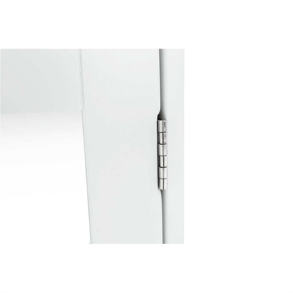 Faliszekrény tükörrel, fehér, ATENE TYP 2