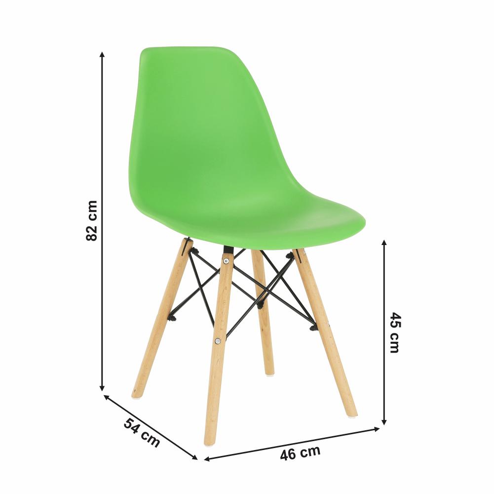 Szék, zöld/bükkfa, CINKLA 3 NEW