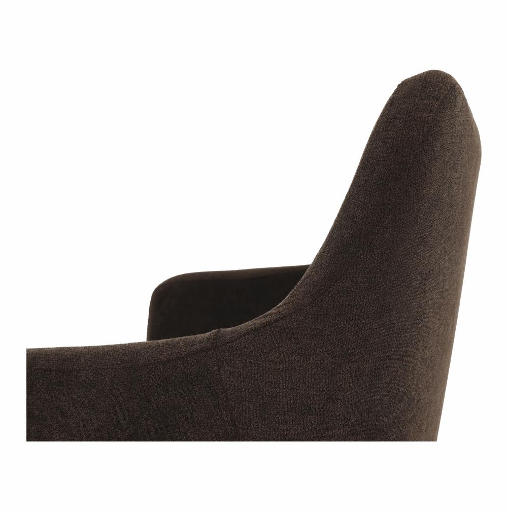 Étkező fotel, sötétbarna anyag/bükk, DABIR