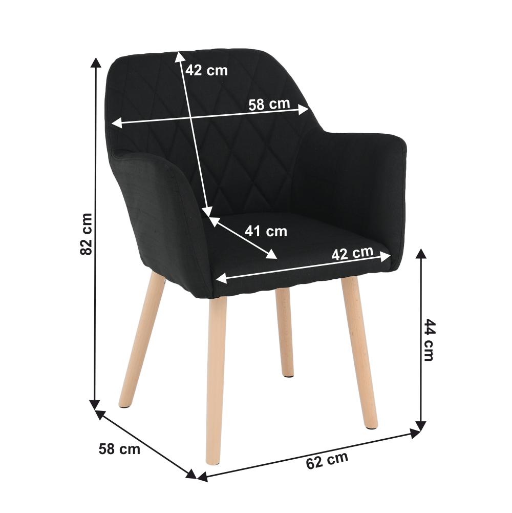 Fotel, fekete/bükk, EKIN