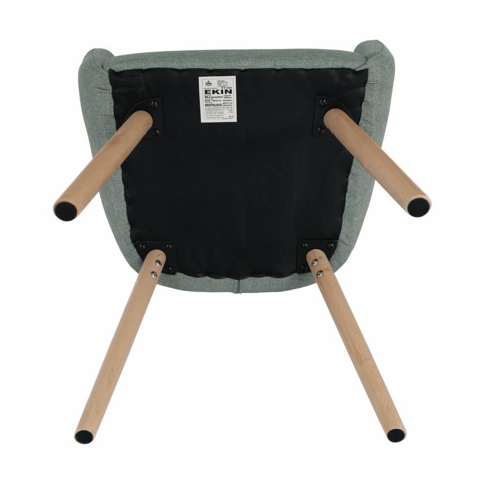 Fotel, menta/bükk, EKIN