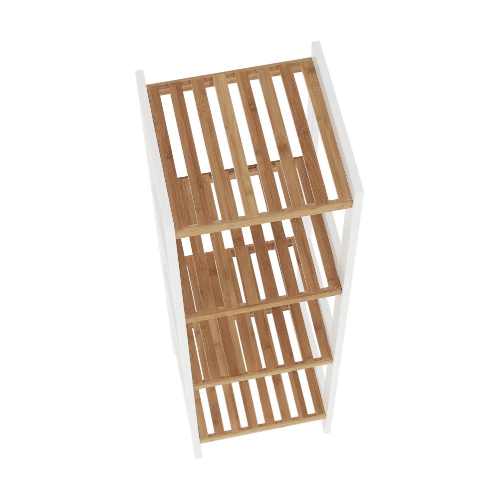Könyvespolc, bambusz természetes/fehér, ERAVA TYP 2