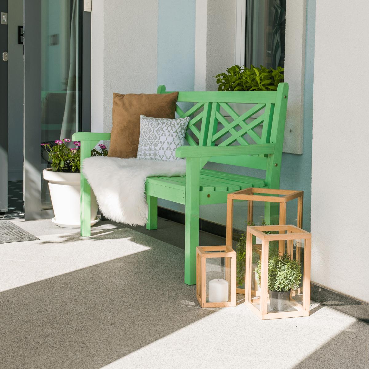 Fából készült kerti pad, neo mint, 124 cm, FABLA