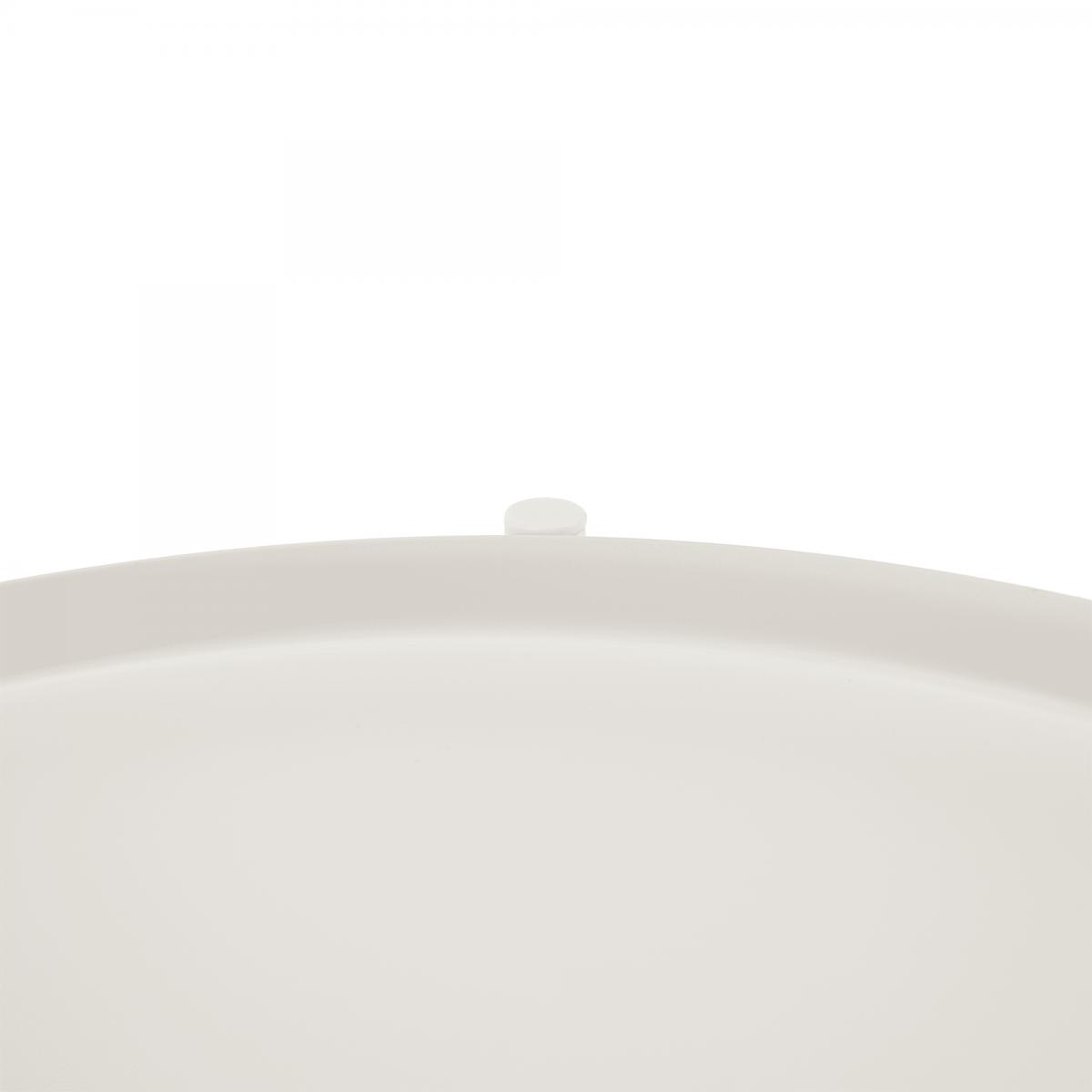 Kisasztal levehető tálcával, fehér/barna, FANDOR