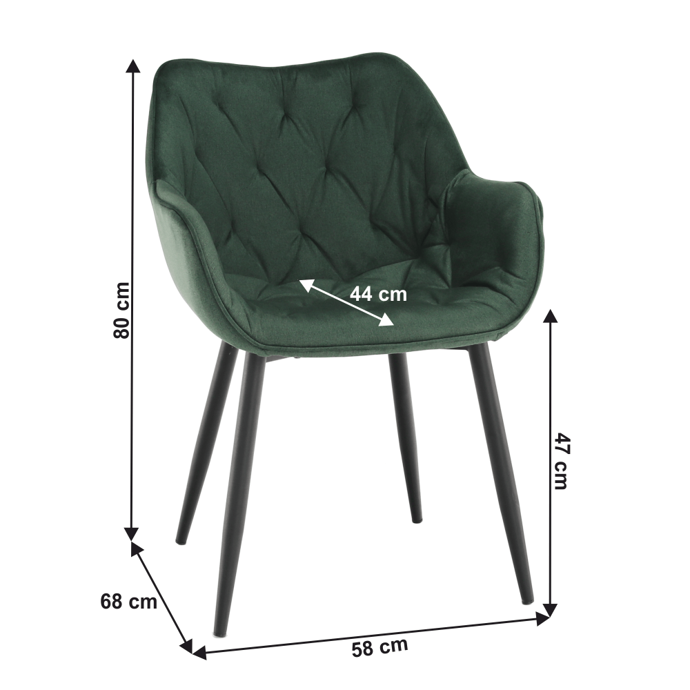 Dizájnos fotel, zöld Velvet anyag, FEDRIS