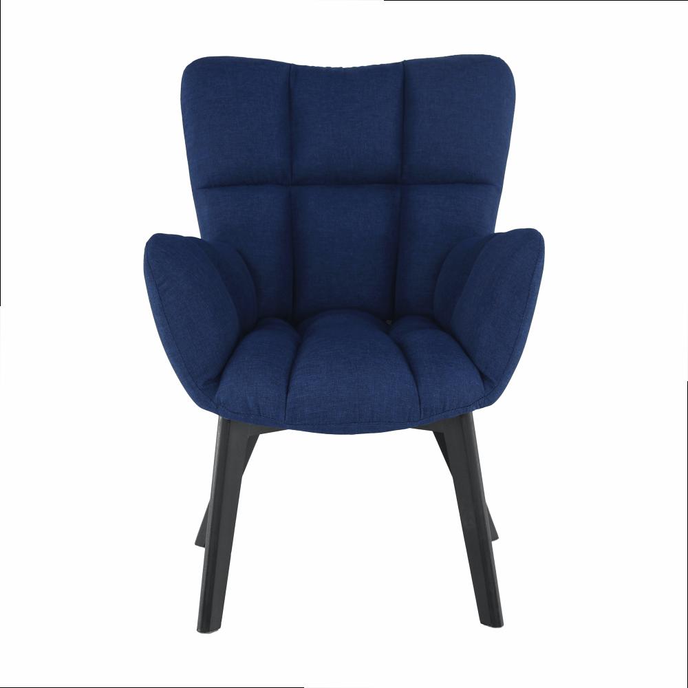 Dizájnos fotel, kék/fekete, FONDAR