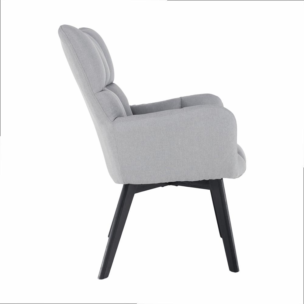 Dizájnos fotel, szürke/fekete, FONDAR