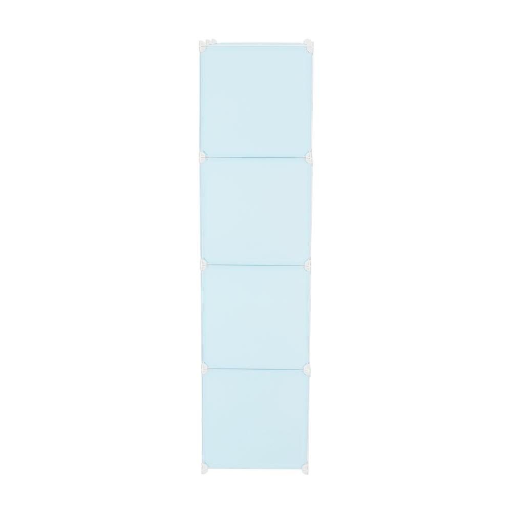 Gyerek szekrény, kék/gyerek minta, FRIN