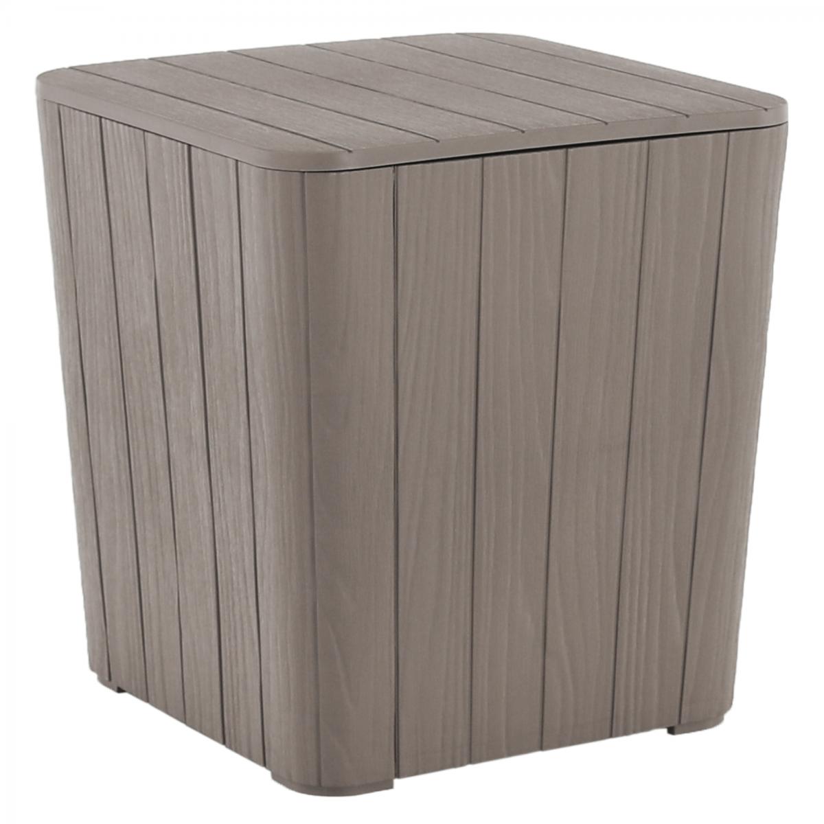 Kerti tároló doboz/kisasztal, szürke, IBLIS