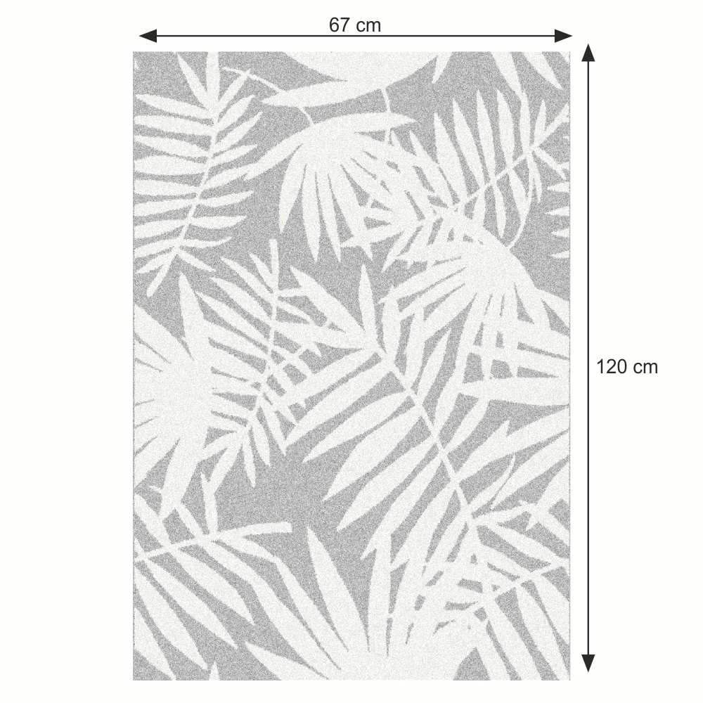 Szőnyeg, leveles minta, 67x120, INTISAR