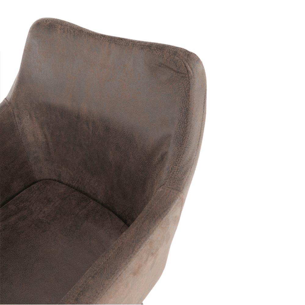 Étkező fotel, barnásszürke/fekete, DABIR