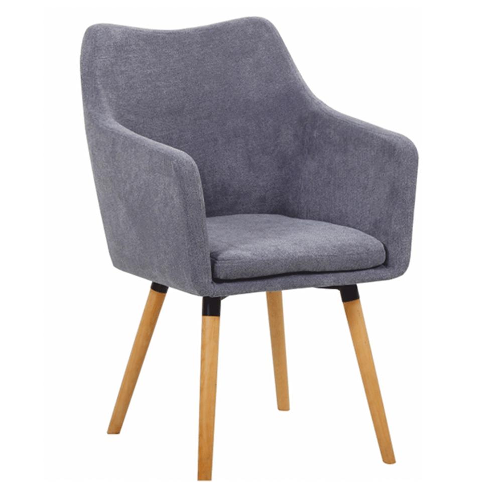 Étkező fotel, szürke anyag/bükk, DABIR