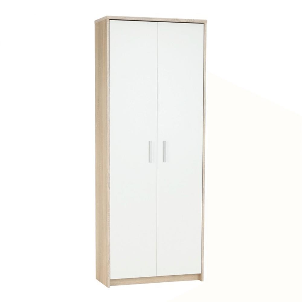 Zárt polcos szekrény, sonoma tölgy/fehér, JOHAN 2 NEW 05