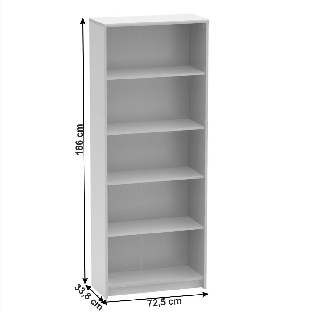 Irodai polcos szekrény, fehér, JOHAN 2 NEW 04