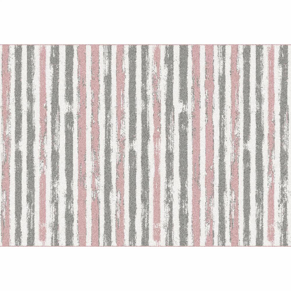 Szőnyeg, rózsaszín/szürke/fehér, 67x120, KARAN