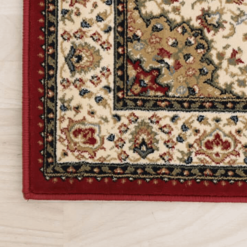 Szőnyeg, borvörös/színek keveréke/minta, 133x190, KENDRA tip 3
