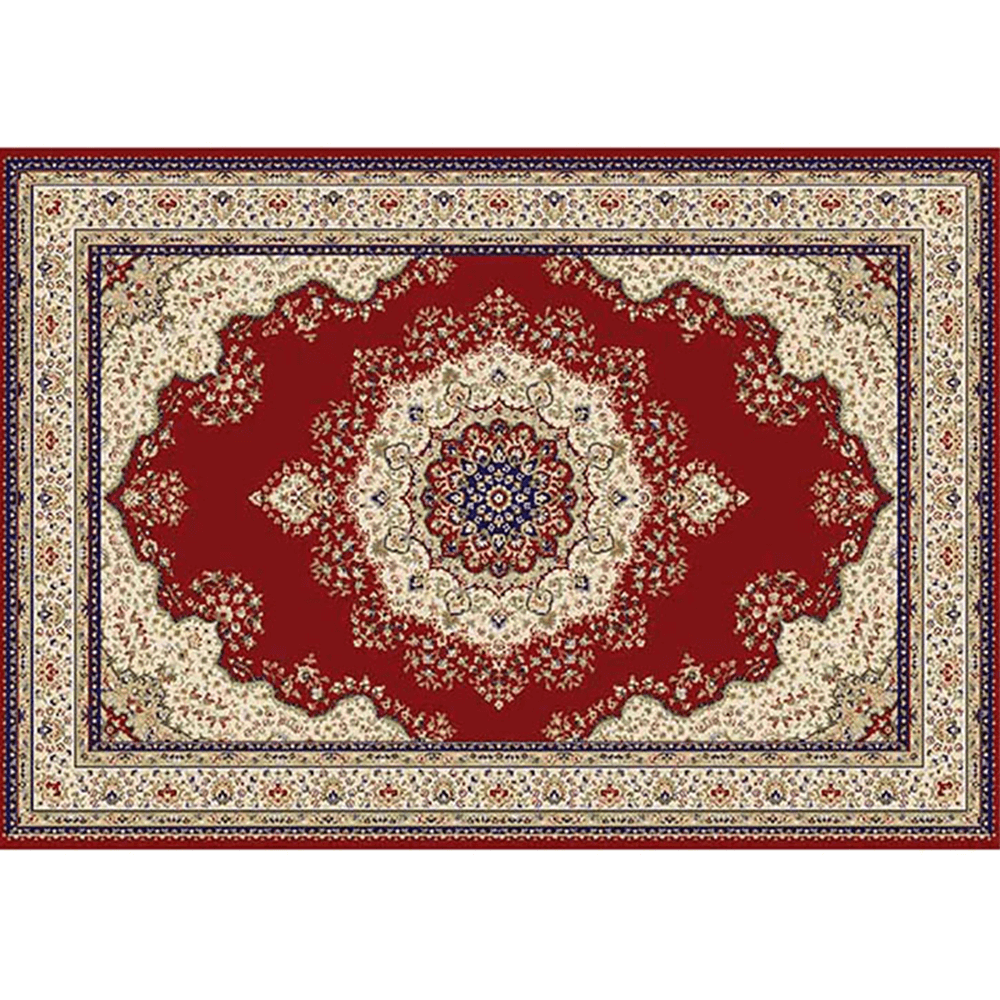 Szőnyeg, vörös/szín mix/minta, 100x150, KENDRA TYP 3