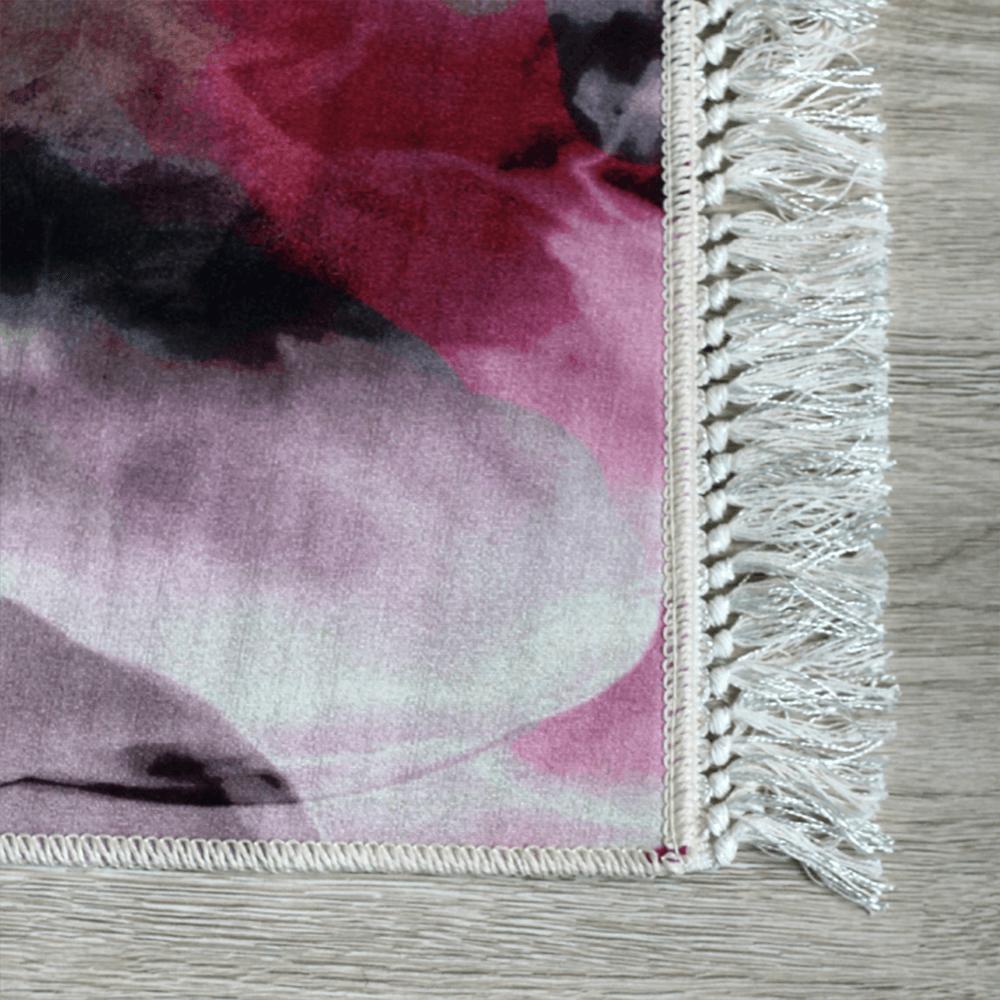 Szőnyeg, rózsaszín/zöld/bézs/minta, 80x150, DELILA