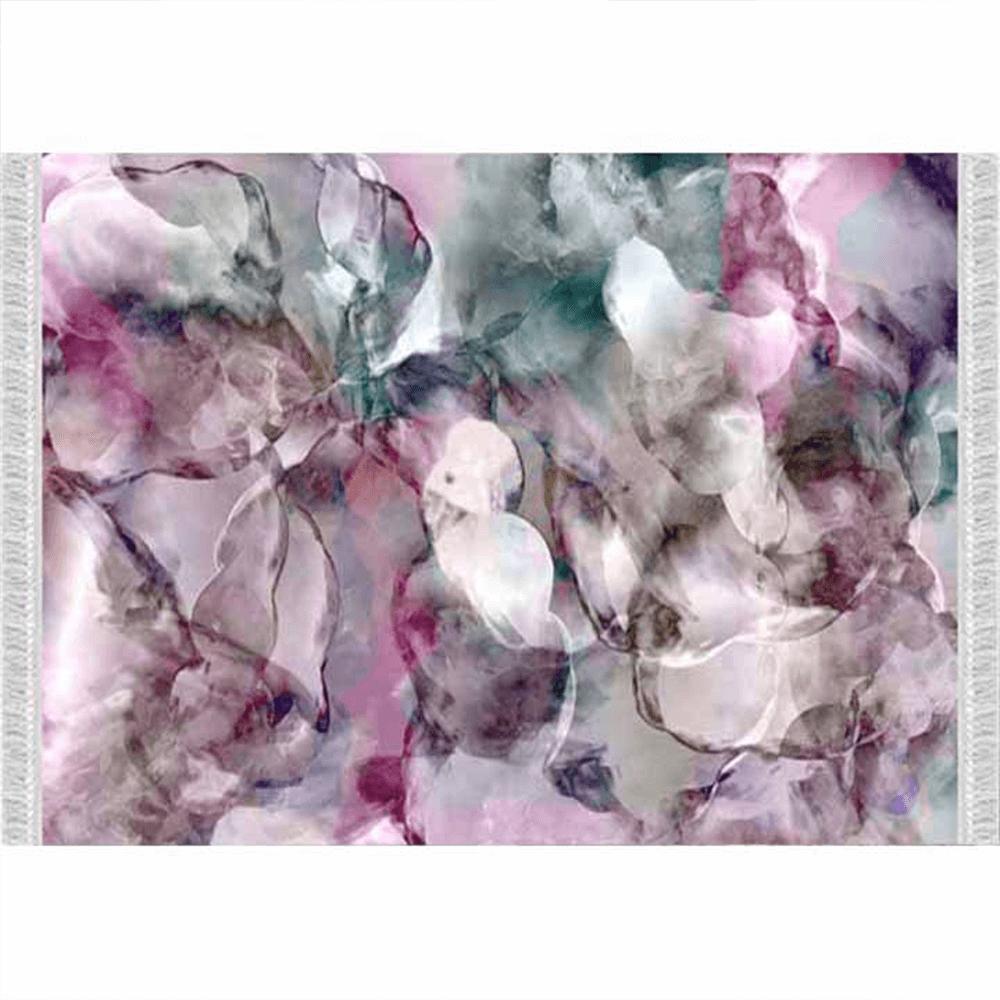 Szőnyeg, rózsaszín/zöld/bézs/minta, 180x270, DELILA