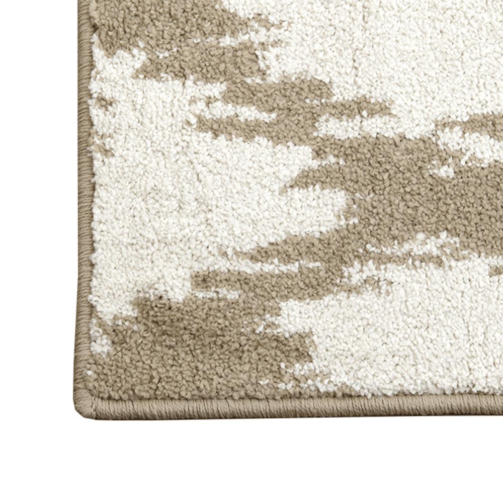 Szőnyeg, krém/fehér, 133x190, LIBAR