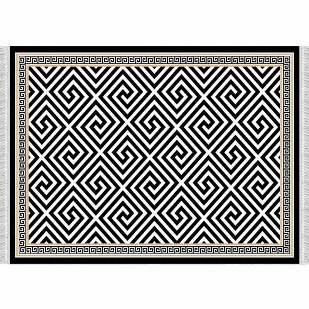 Szőnyeg, fekete-fehér minta, 80x200, MOTIVE