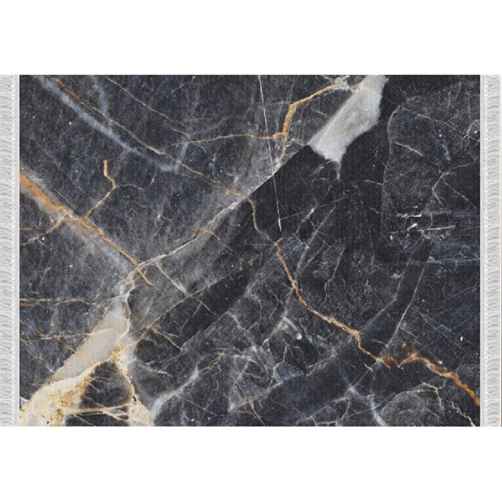 Szőnyeg, minta fekete márvány, 160x230, RENOX TYP 1