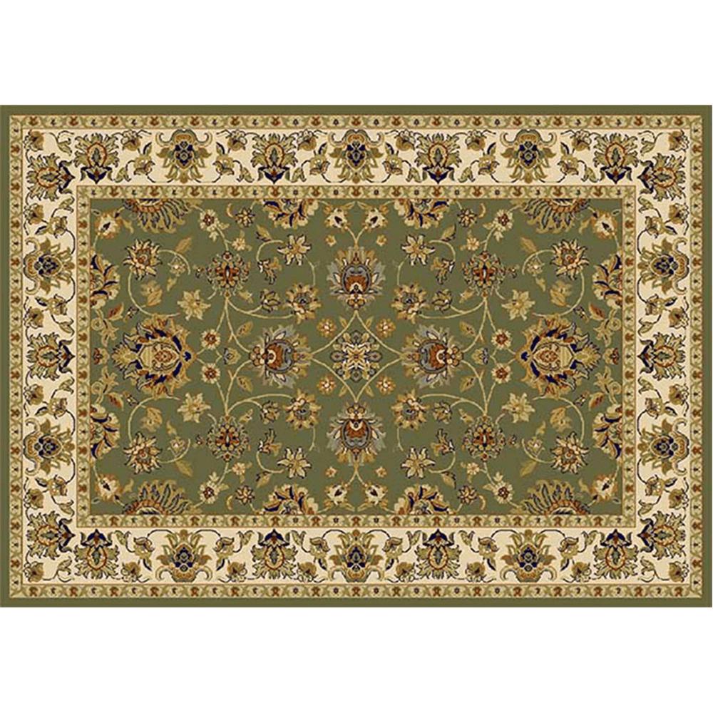 Szőnyeg, zöld/színek keveréke/minta, 67x120, KENDRA tip 2