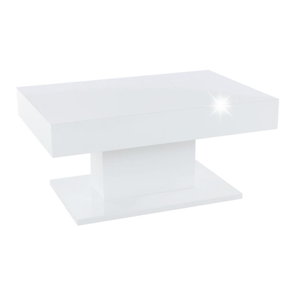 Dohányzóasztal tárolóhellyel, fehér magas fényű, DIKARO