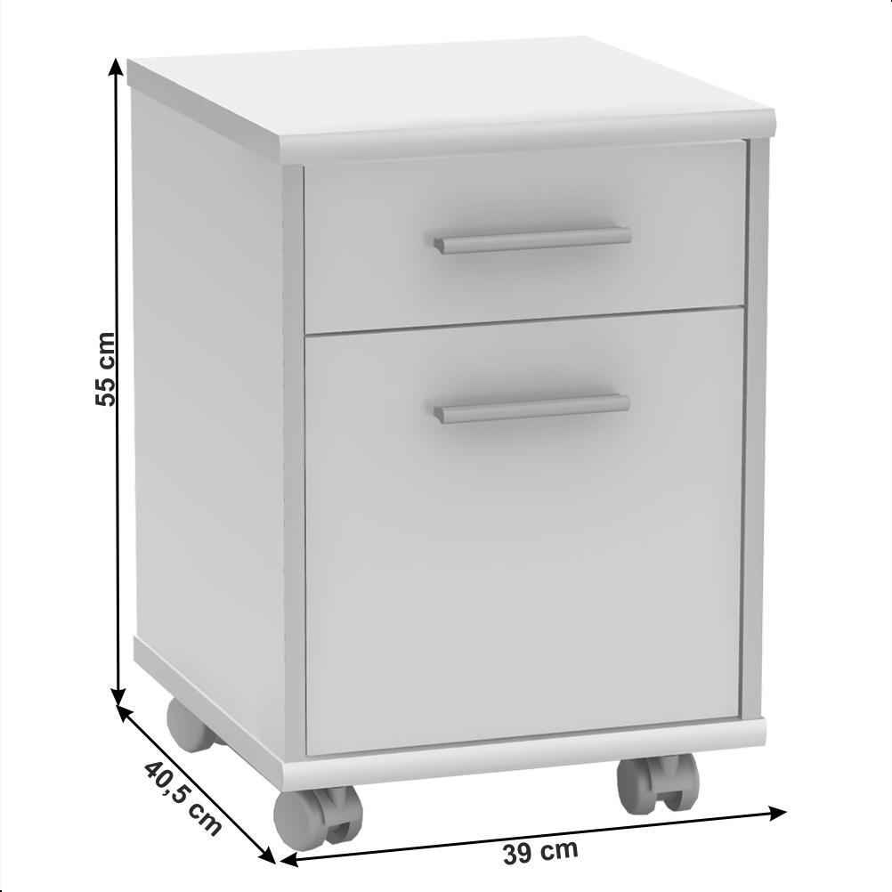Irodai konténer,fehér, JOHAN 2 NEW 07