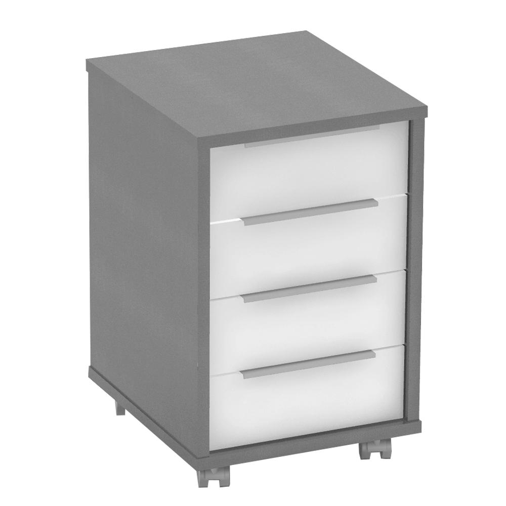 Irodai konténer, grafit/fehér, RIOMA NEW TYP 14