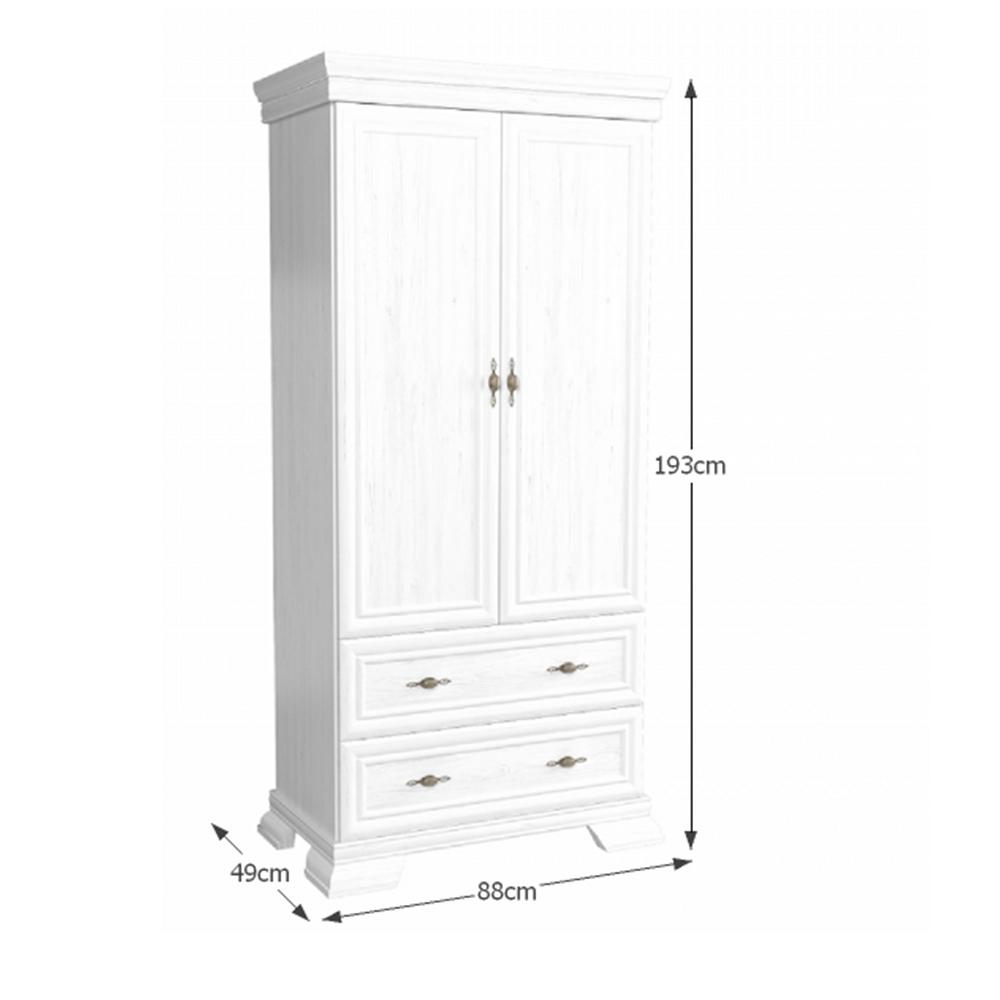 Kétajtós szekrény KS1, sosna andersen, KORA