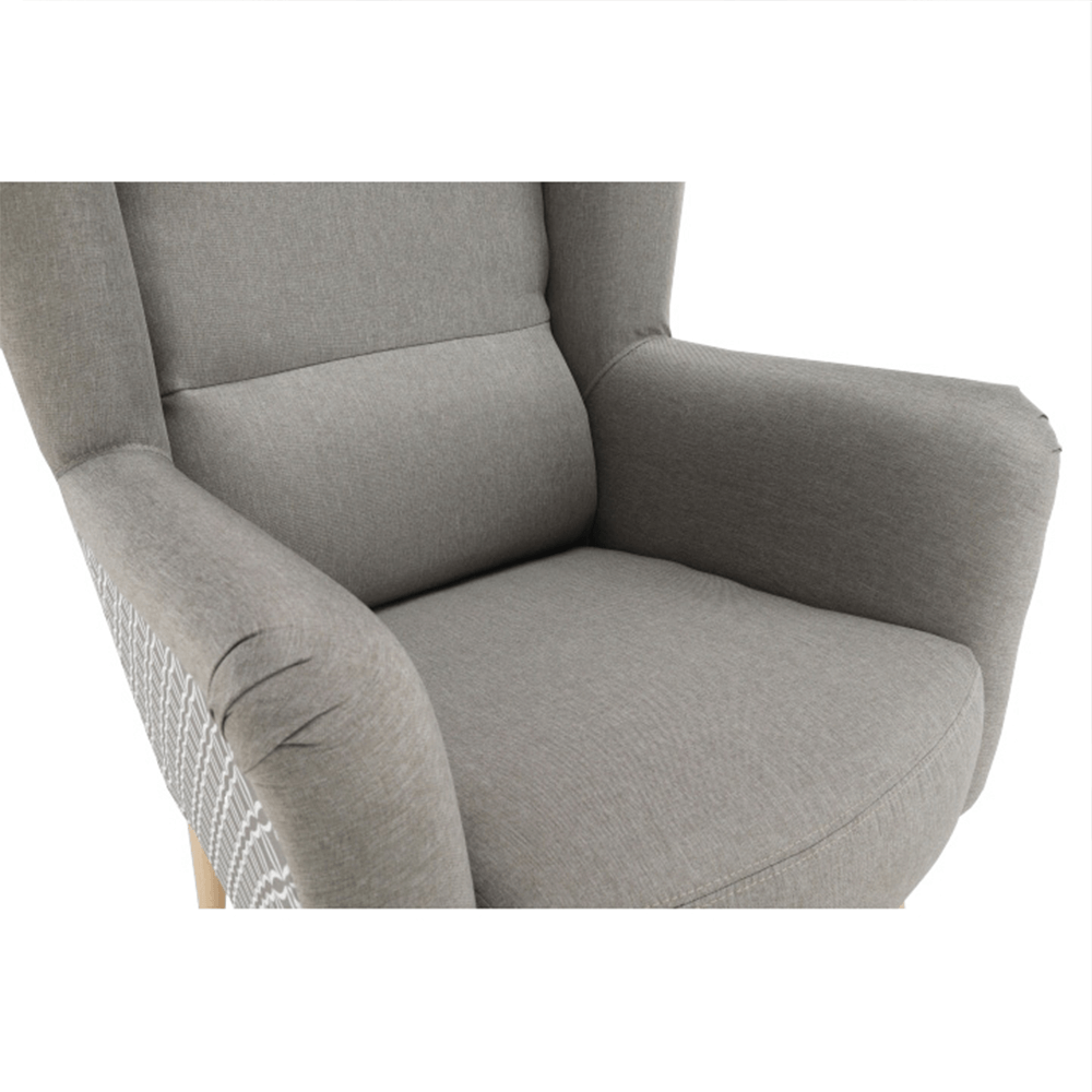Dizájnos fotel, anyag, cappuccino/minta, BELEK