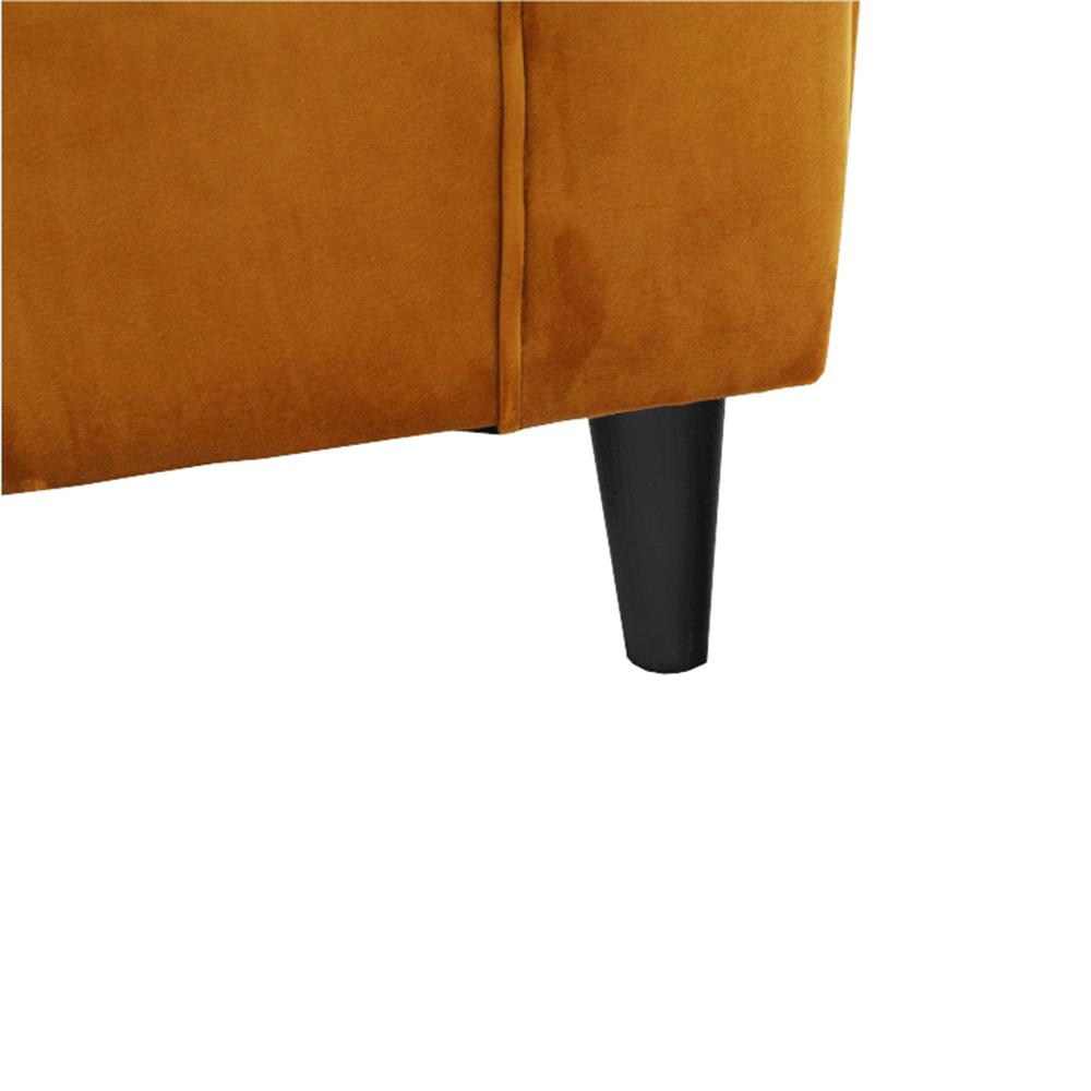 Füles fotel puffal, szövet mustár, ASTRID