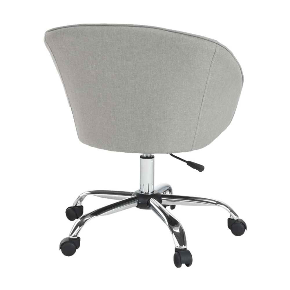 Irodai szék, szürkésbarna anyag/fém, LENER