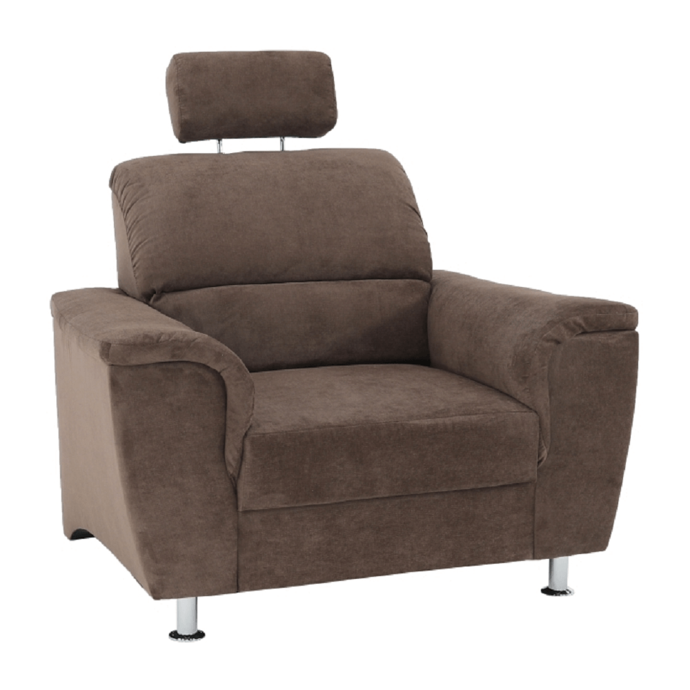 Fotel, barna szövet, SANTIAGO
