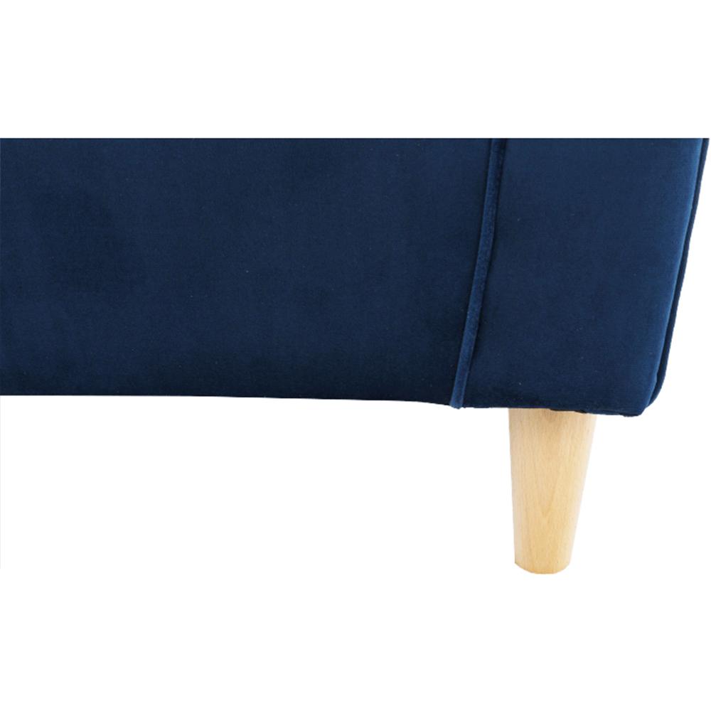 Füles fotel, szövet kék, CHARLOT