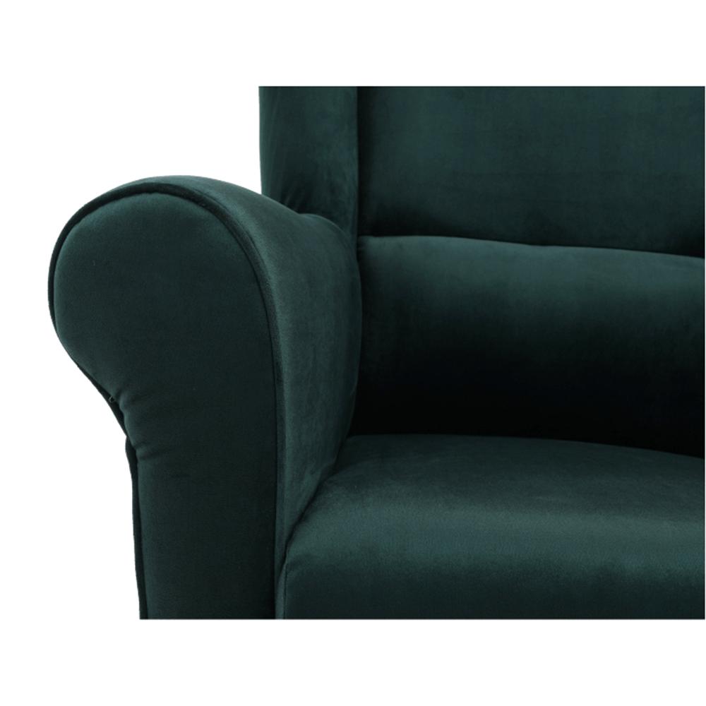 Füles fotel, szövet smaragd, CHARLOT