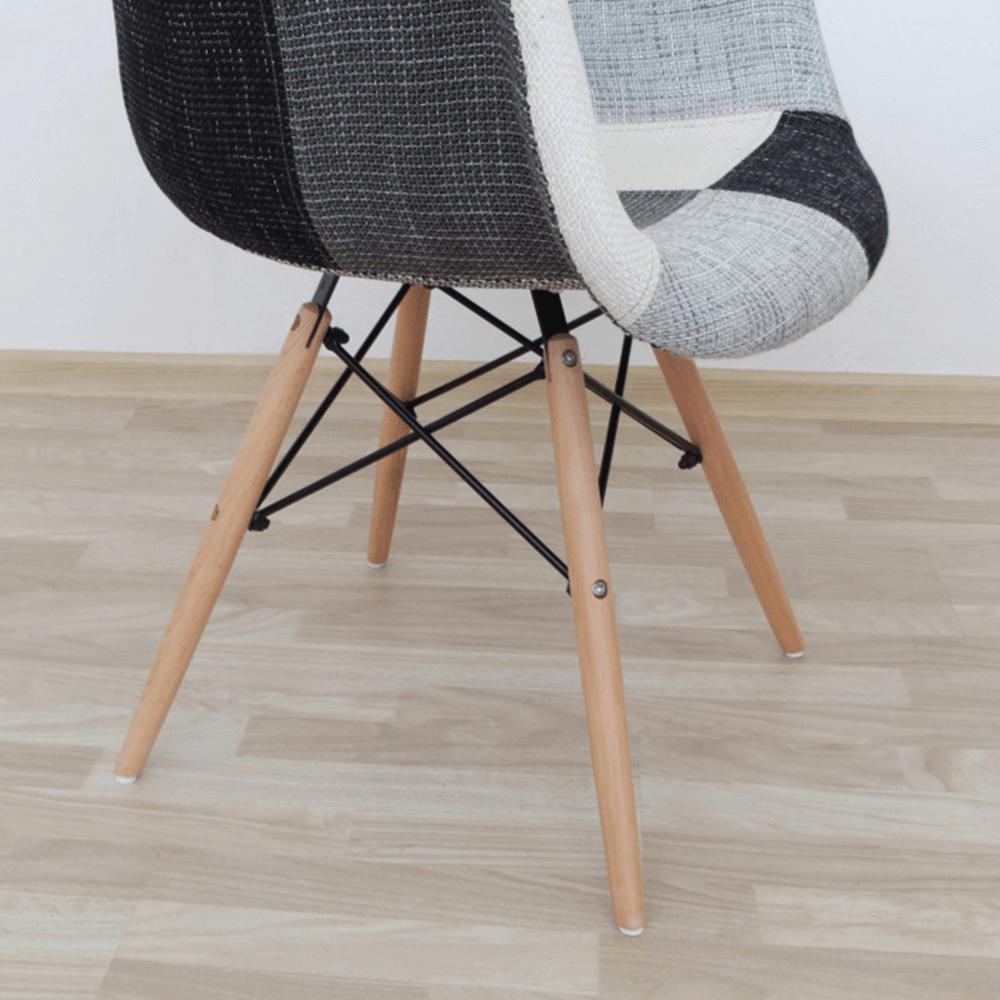 Fotel, anyag patchwork/bükk, KUBIS NEW