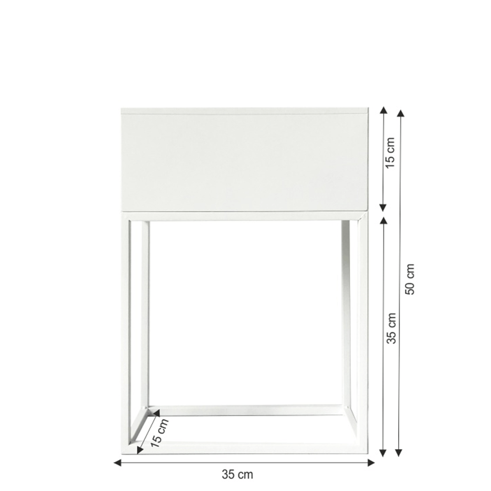 Multifunkcionális virágcserép, fehér, INDIZE TYP 2 WL4214