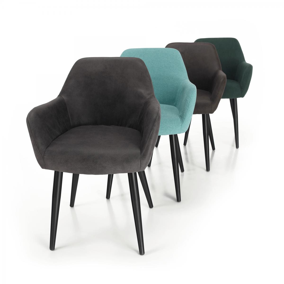 Design fotel, zöld/fekete, LACEY