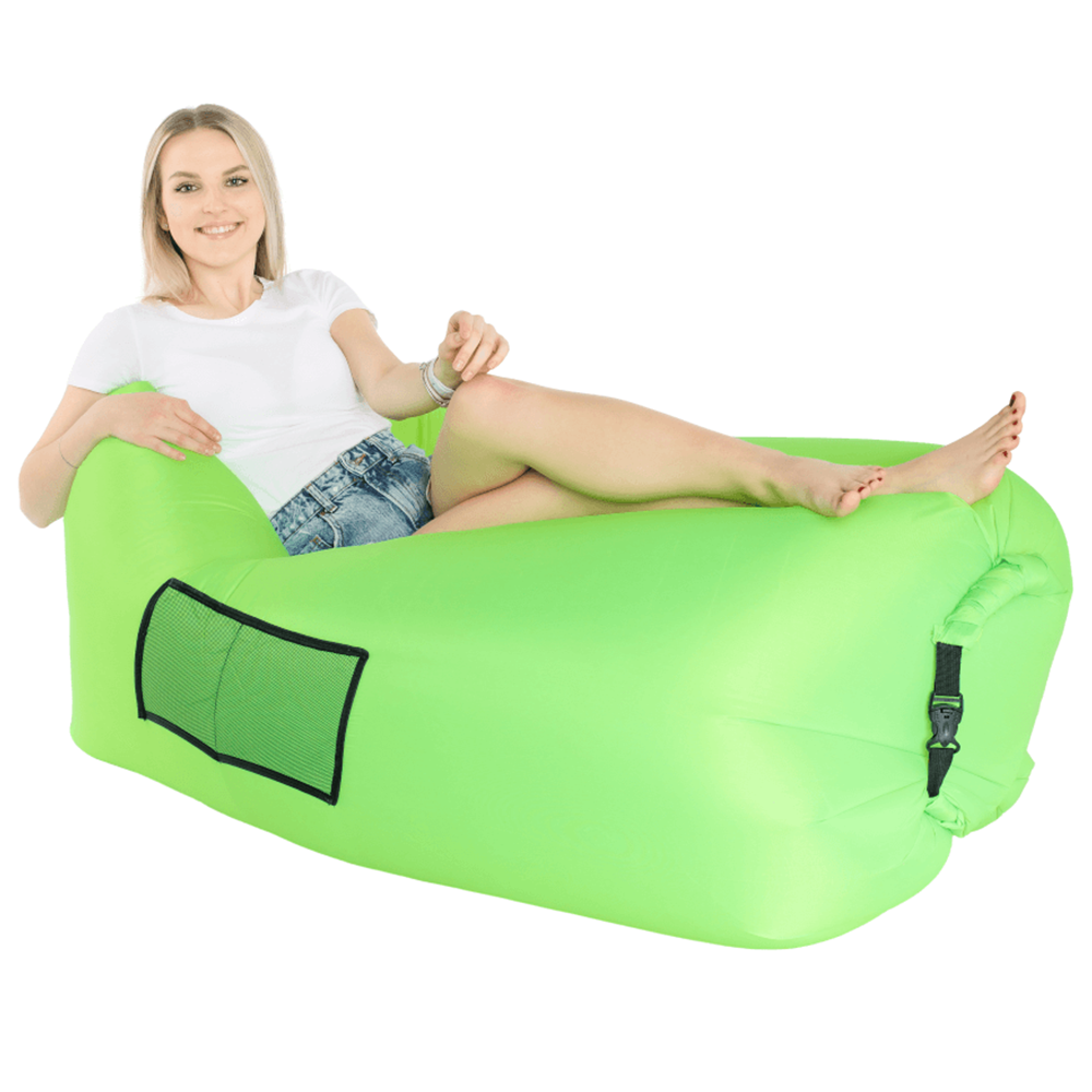 Felfújható babzsák/lazy bag, zöld, LEBAG