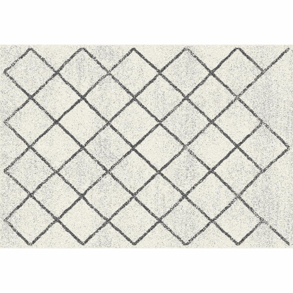 Szőnyeg, bézs/minta, 57x90, MATES TYP 2