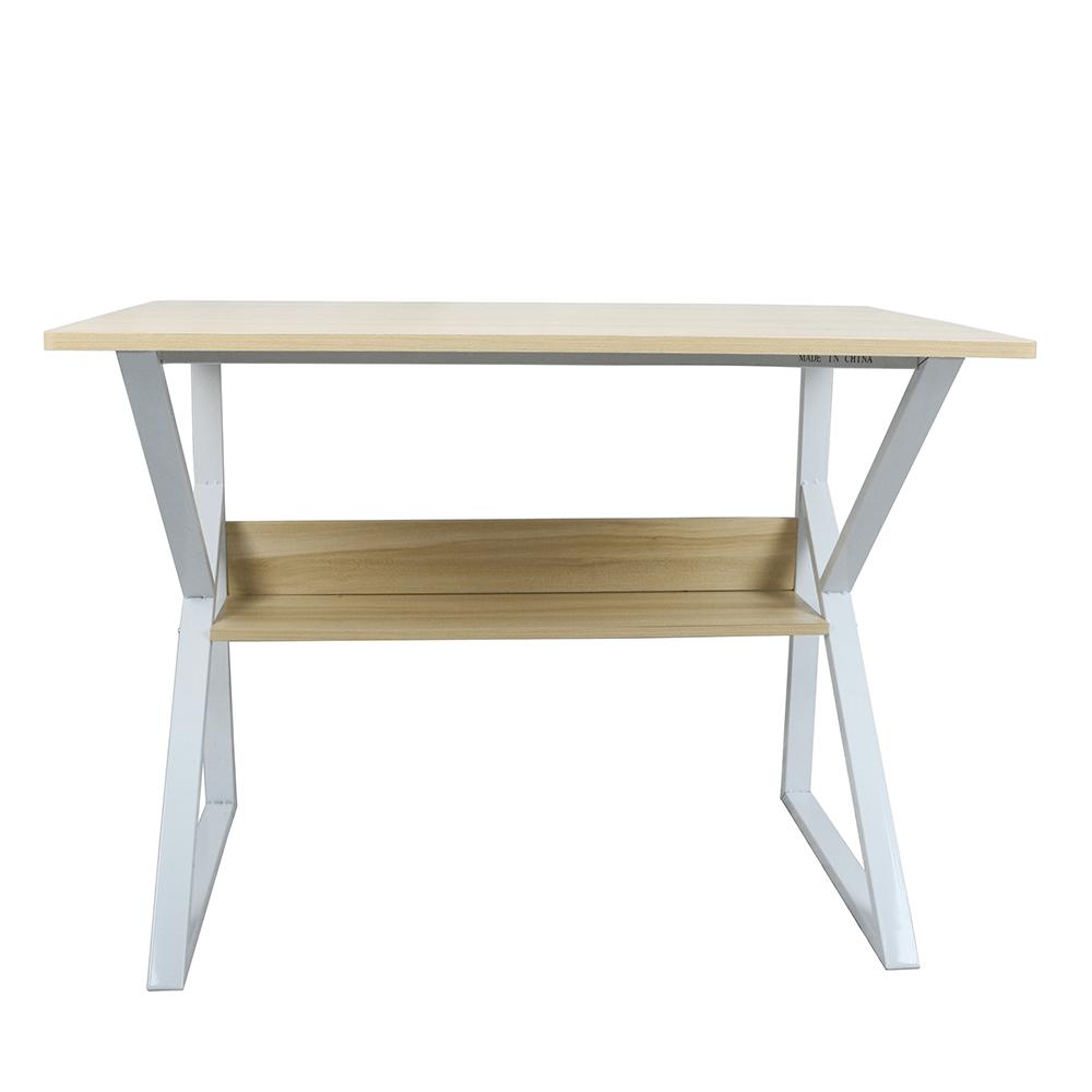 Polcos íróasztal, természetes tölgyfa/fehér, TARCAL 140